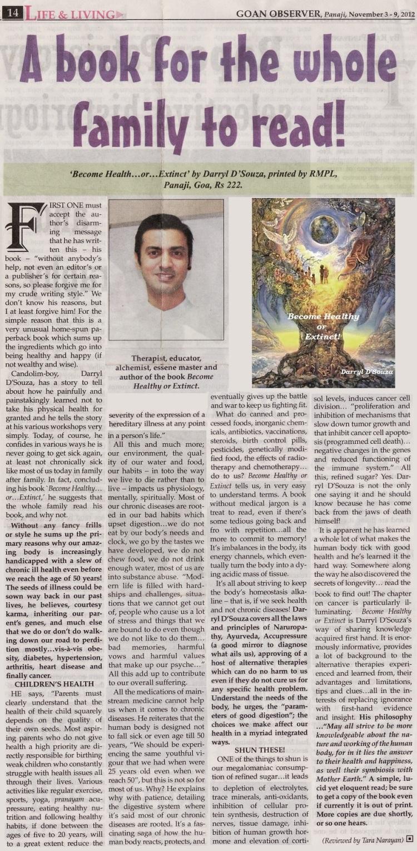 Goan Observer article
